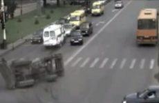 Tracteur qui percute une ambulance de plein fouet