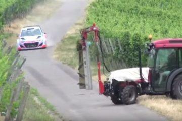 tracteur lors d'une course de rallye
